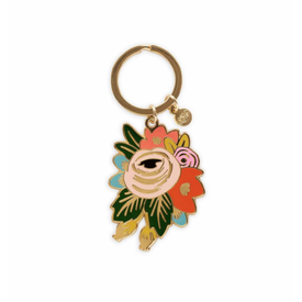 Rifle Paper Co. Rifle Paper Co. Enamel Keychain - Rosa
