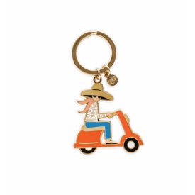 Rifle Paper Co. Rifle Paper Co. Enamel Keychain - Scooter