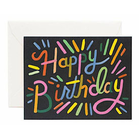 Rifle Paper Rifle Paper Co. Fireworks Birthday Card