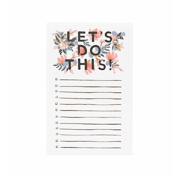 Rifle Paper Rifle Paper Co. Notepad - Let's Do This
