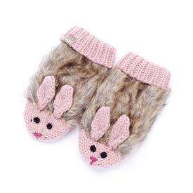 Peppercorn Kids Peppercorn Kids Faux Fur Bunny Mittens