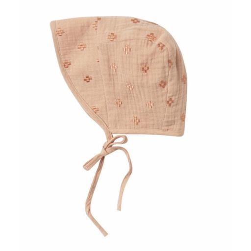 Rylee + Cru Rylee + Cru Cross Embroidered Bonnet