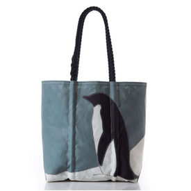 Sea Bags Sea Bags Penguin Tote - Hemp Handles - Medium with Clasp