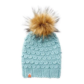 Shit That I Knit Shit That I Knit Gunn Beanie - Crystalline - Faux Fur Pom