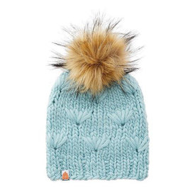 Shit That I Knit Shit That I Knit Motley Beanie - Crystalline - Faux Fur Pom