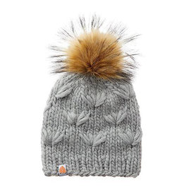 Sh*t That I Knit Sh*t That I Knit - Motley Beanie - Heather - Faux Fur Pom