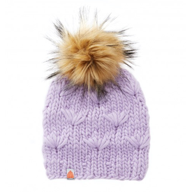 Shit That I Knit Shit That I Knit Motley Beanie - Lavender - Faux Fur Pom
