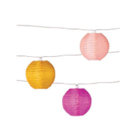 Allsop Home & Garden Soji Solar String-Lights - Peach Bellini