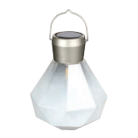Allsop Home & Garden Solar Glass Gem Lantern - Milk