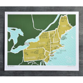 We Are Brainstorm The Northeast Print - 11x14