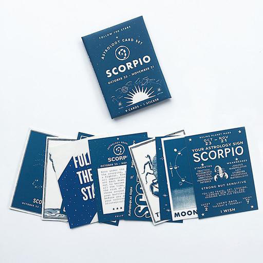 Three Potato Four Astrology Card Pack - Scorpio