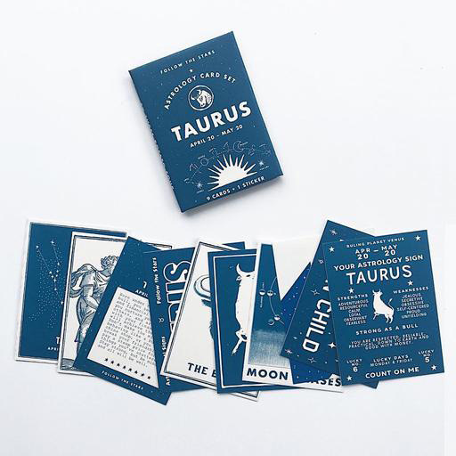 Three Potato Four Astrology Card Pack - Taurus