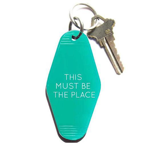 Three Potato Four Key Tag - This Must Be The Place - Turquoise