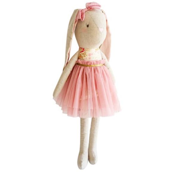 Alimrose Alimrose Linen Pearl Cuddle Bunny - Blush