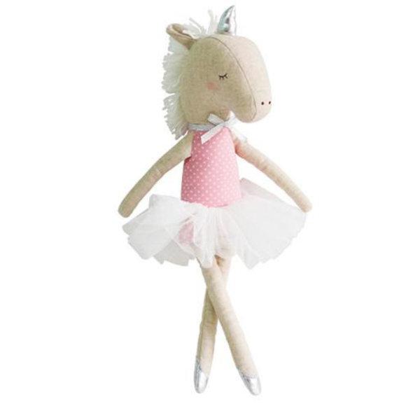 Alimrose Alimrose Yvette Unicorn Doll - Pink Silver