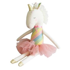 Alimrose Alimrose Yvette Unicorn Doll - Rainbow