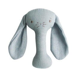 Alimrose Alimrose Bobby Bunny Stick Rattle - Grey Linen