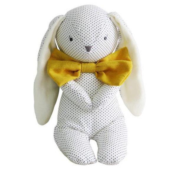 Alimrose Alimrose Roberto Floppy Bunny - Navy Spot & Bowtie