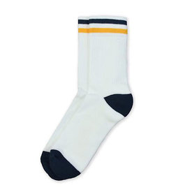 American Trench American Trench Kennedy Lux Athletic Socks - White Body with Stripe