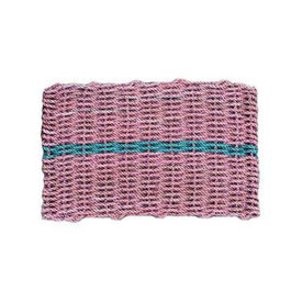 Cape Porpoise Trading Co. Cape Porpoise Trading Co. Recycled Rope Mat - Pink/Green - Large