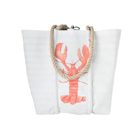 Sea Bags Sea Bags Sara Fitz Single Lobster Tote - Hemp Handle - Medium with Clasp