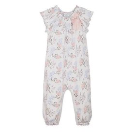 Feather Baby Feather Baby Bow Romper - Annabelle on White