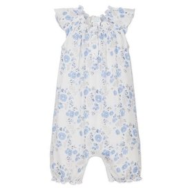 Feather Baby Feather Baby Angel-Sleeve Romper Maria Blue