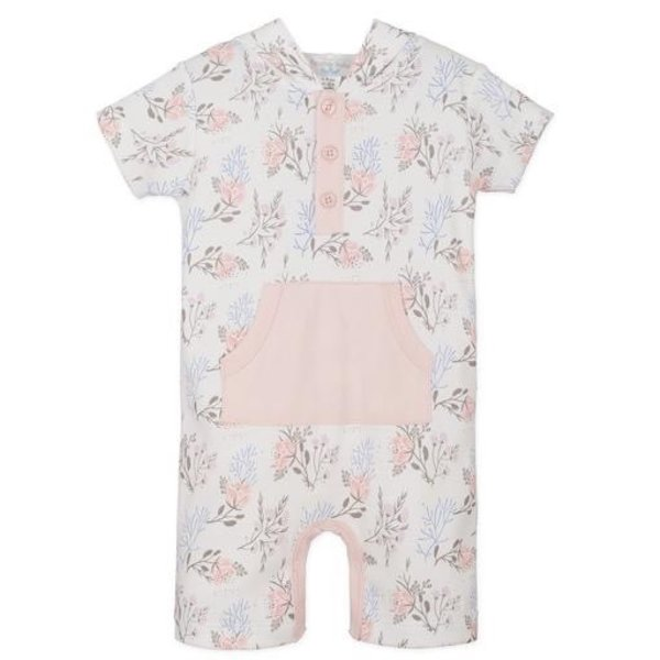 Feather Baby Feather Baby Hoody Romper - Annabelle on White