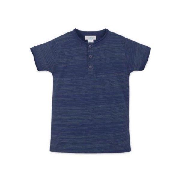 Feather Baby Feather Baby Henley T-Shirt - Stripe on Indigo