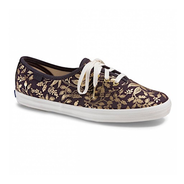KEDS KEDS Adult + Rifle Paper Co. - Champion / Queen Anne Foil - Nine Iron
