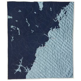 Haptic Lab Inc. Haptic Lab Coastal Quilt - Southern Maine - Navy/Steel Blue