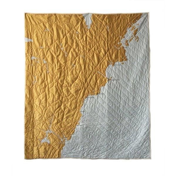 Haptic Lab Inc. Haptic Lab Coastal Quilt - Southern Maine - Pale Blue/Gold