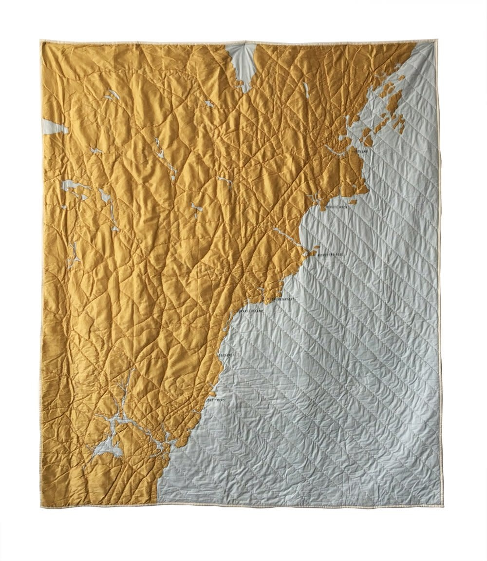Haptic Lab Coastal Quilt - Southern Maine - Pale Blue/Gold