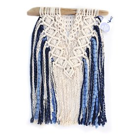 C/Hill C/Hill Macrame Wall Hanging - Girlfriends - Blue