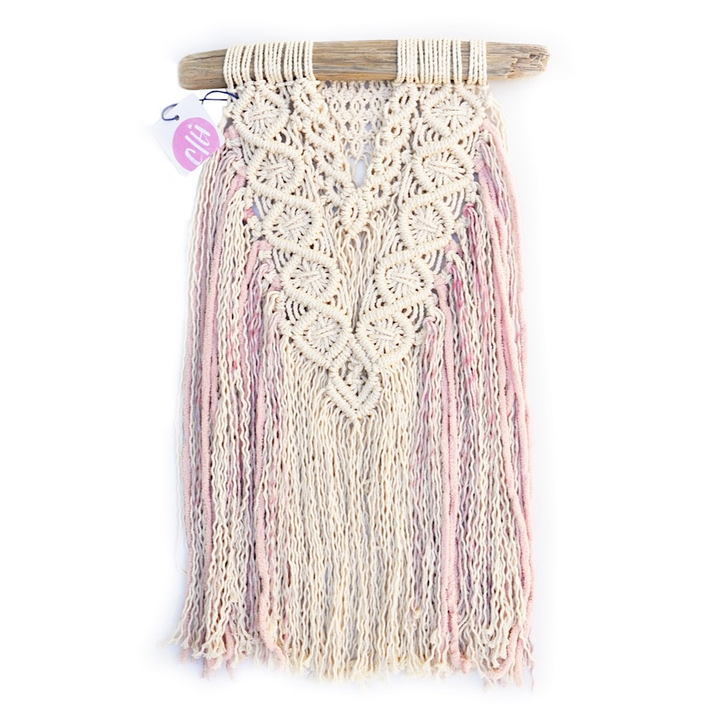 C/Hill Macrame Wall Hanging - Girlfriends - Pink