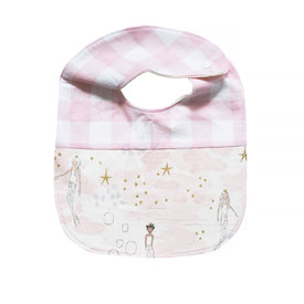 Two Little Beans & Co. Two Little Beans Baby Bib - Pink Gingham Mermaids