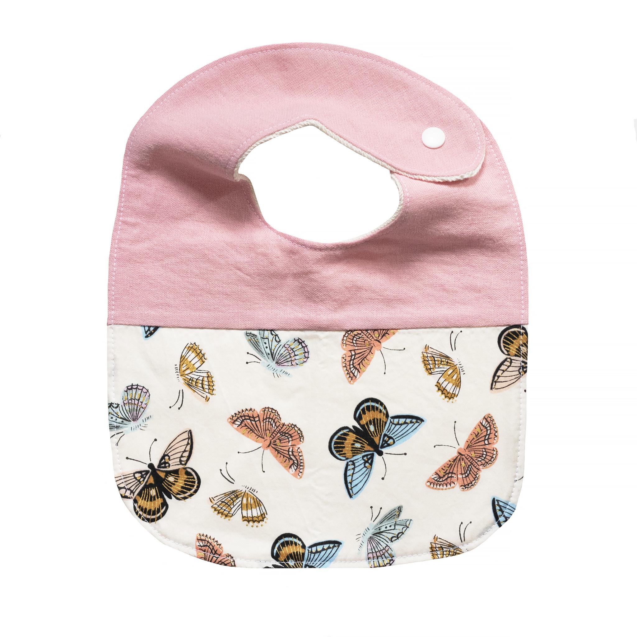 Two Little Beans Baby Bib - Rifle Butterflies