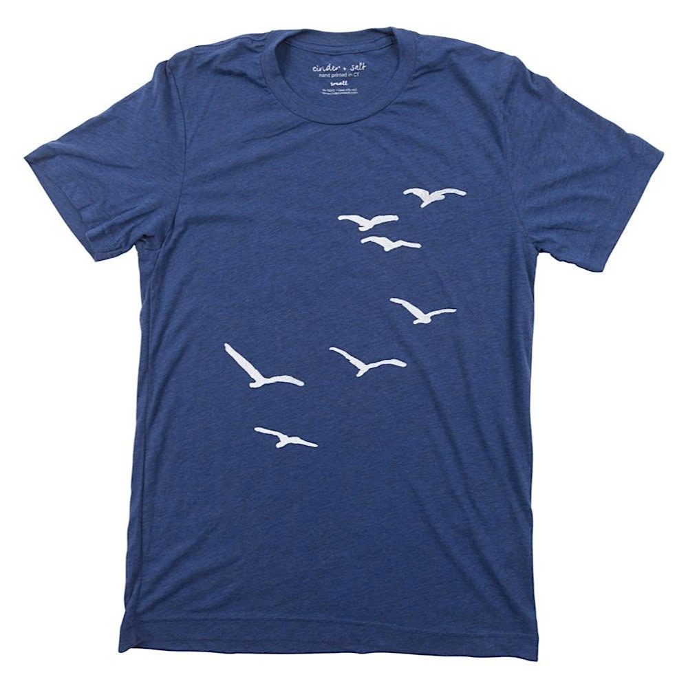 Cinder + Salt Seagull T-Shirt - Navy