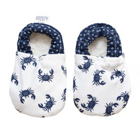 Two Little Beans & Co. Two Little Beans Baby Booties - Blue Crabs