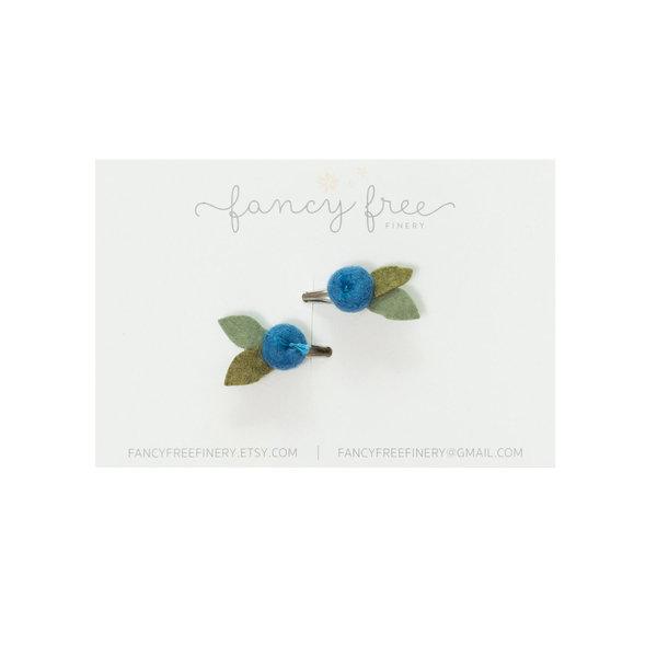 Fancy Free Finery Fancy Free Finery Blueberry Pigtail Clip Set
