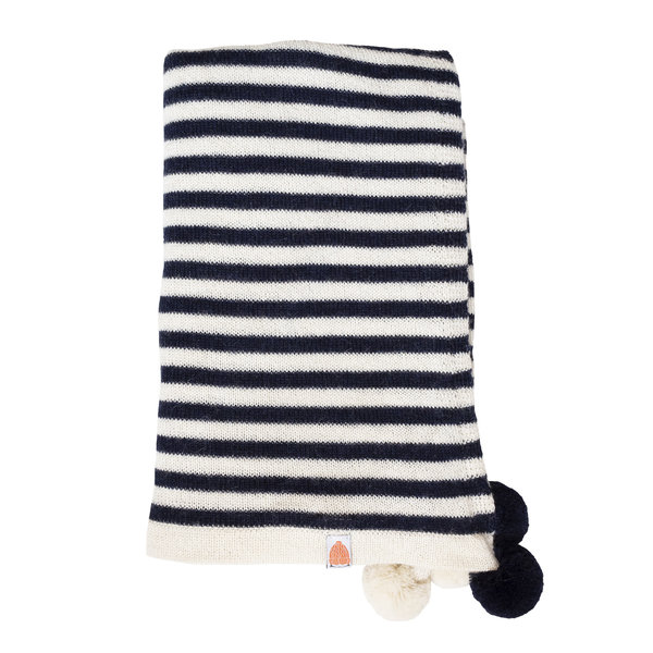 Shit That I Knit Shit That I Knit Pardy Wrap in Navy and White Stripes