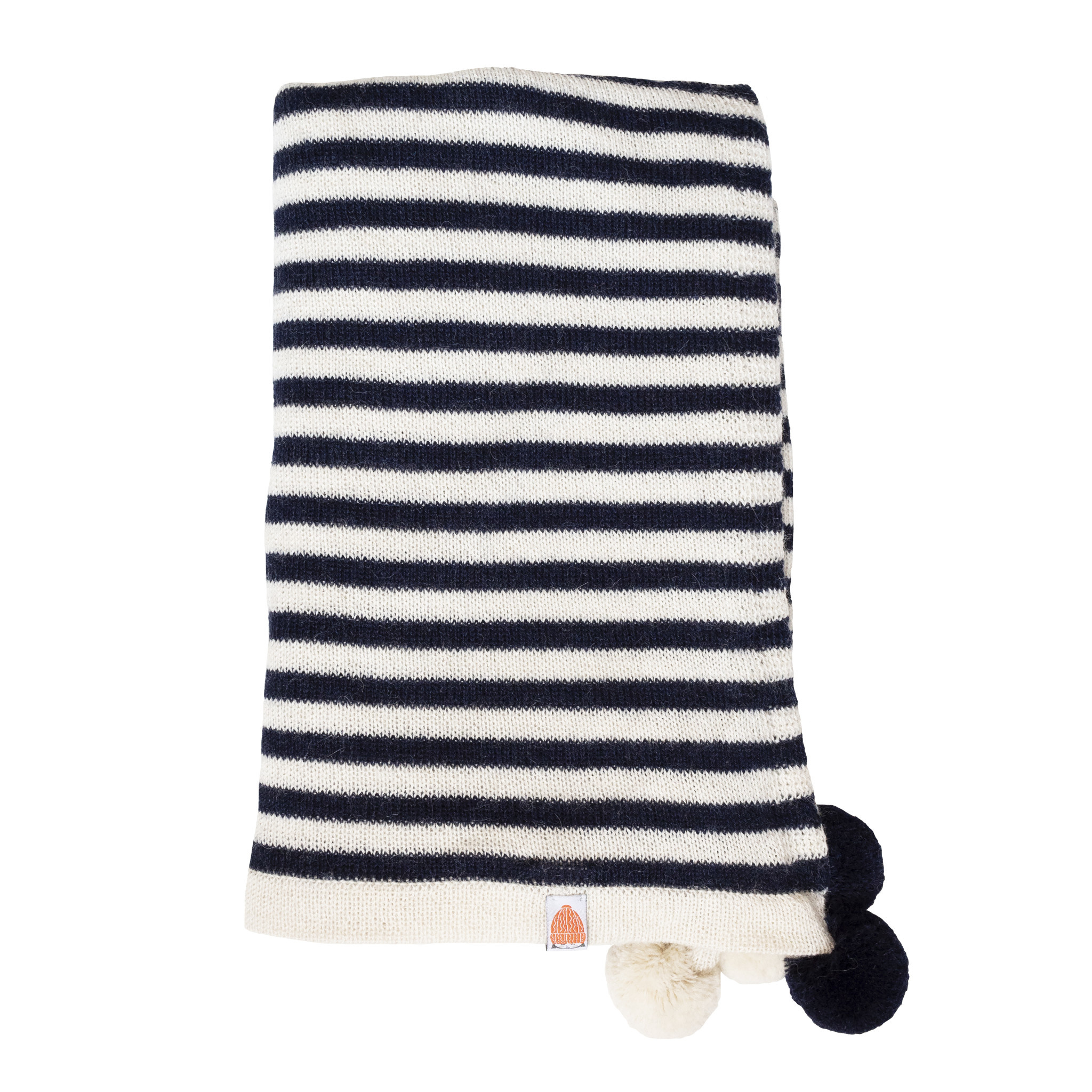 Shit That I Knit Pardy Wrap in Navy and White Stripes
