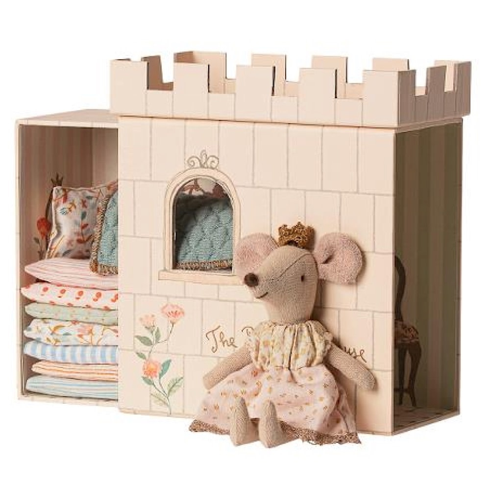 Maileg Mouse - Princess On The Pea - Big Sister - Pale Pink