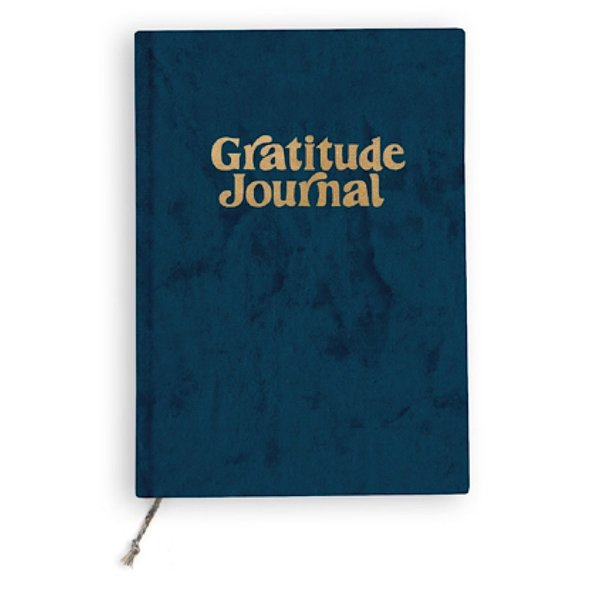 Printfresh Studio Printfresh Studio Mini Journal - Navy Fade Velvet Gratitude