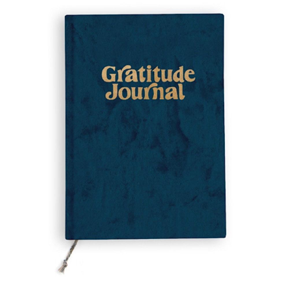 Printfresh Studio Mini Journal - Navy Fade Velvet Gratitude