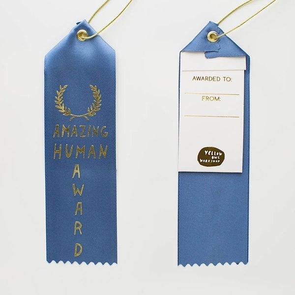 Yellow Owl Workshop Yellow Owl Workshop - Amazing Human Award Ribbon