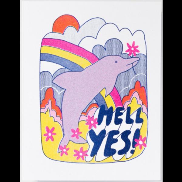 Yellow Owl Workshop Yellow Owl Workshop Hell Yes Dolphin Card
