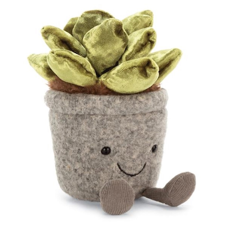 Jellycat Silly Succulent Jade - 7 Inches