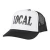 Tiny Whales Local Kid's Trucker Hat - White & Black