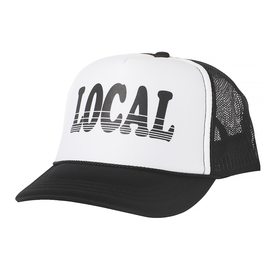 Tiny Whales Tiny Whales Local Kid's Trucker Hat - White & Black